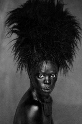 Zanele Muholi Somnyama I, Paris, France, 2014 Gelatin Silver Print 35.5 x 25 inches Courtesy of Yancey Richardson Gallery, NTC & Stevenson Gallery, Cape Town