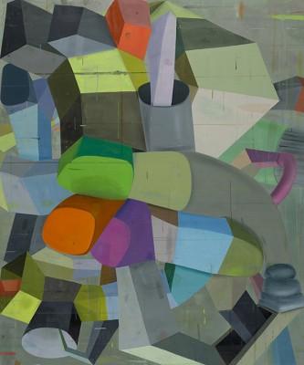 Deborah Zlotsky, PIttsburgh left, oil on canvas, 2014