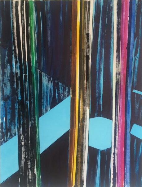 Spotlight, 2016, oil, acrylic and ink on canvas, 58 x 44