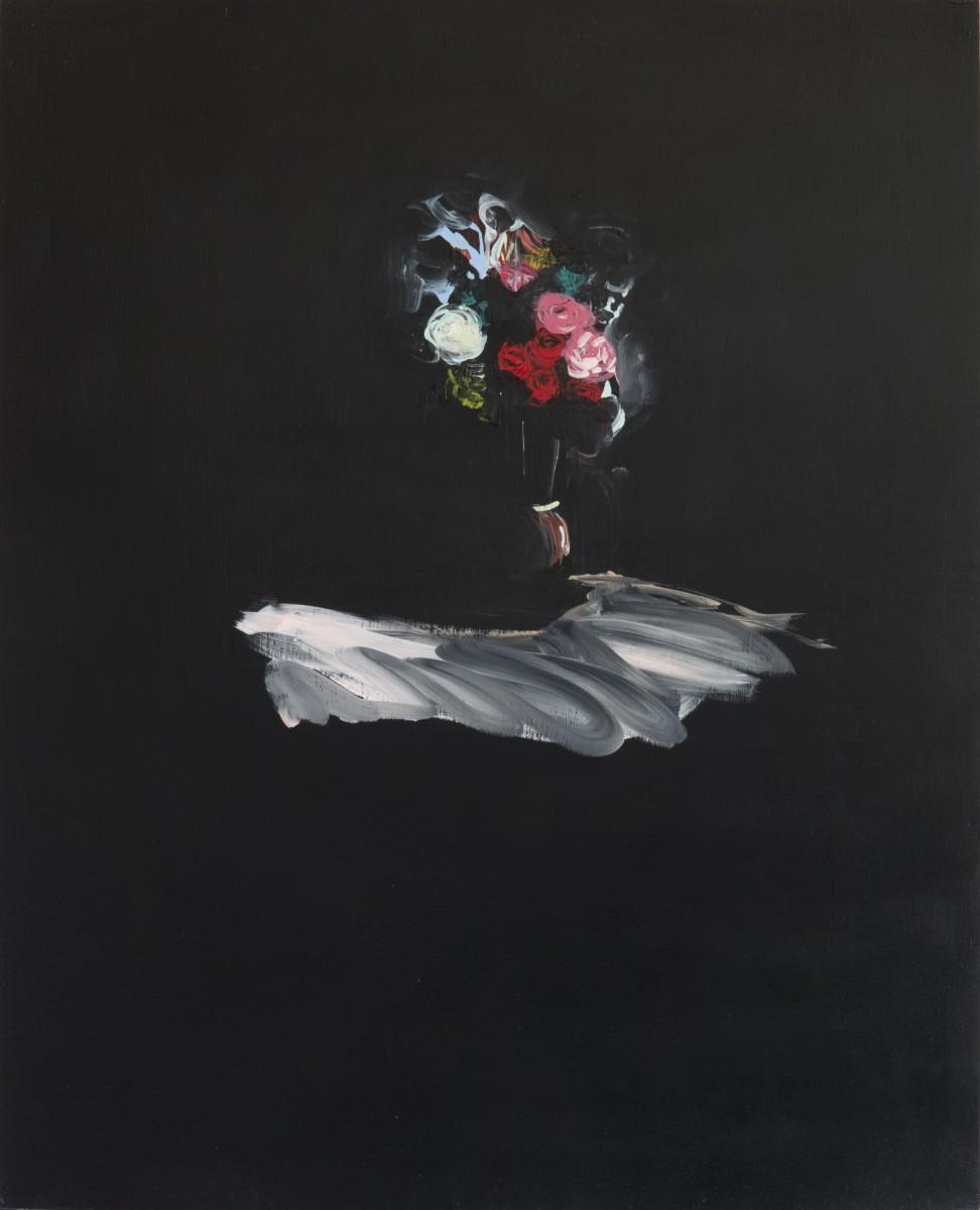 Jenn Dierdorf, Untitled Flower Portraits (June), Acrylic on Wood Panel, 2015