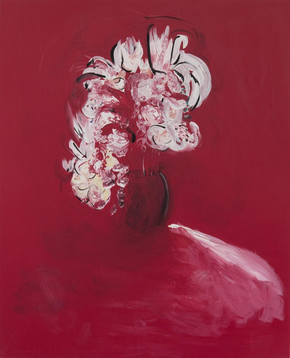 Jenn Dierdorf , Untitled Flower Portraits (February), Acrylic on Wood Panel, 2015